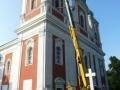 Výměna trámu kostel na Cvilíně